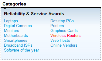 PC Pro Categories